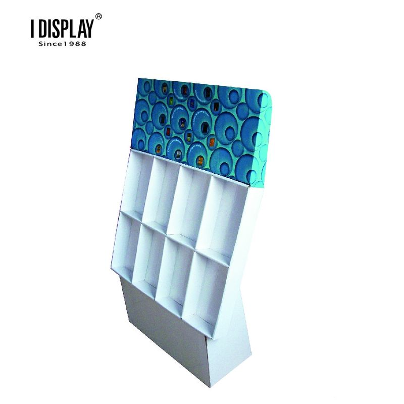 8 Cells Recyclable Strong Cardboard Display Stands For Notebook And Greeting Card
